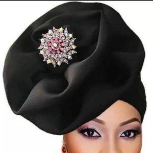 Black Jeweled Head Gear